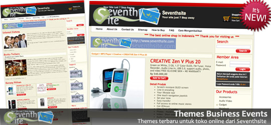 Themes Toko Online Business Events